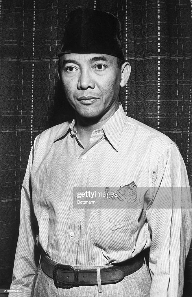 Indonesian President <a gi-track='captionPersonalityLinkClicked' href=/galleries/search?phrase=Sukarno&family=editorial&specificpeople=209275 ng-click='$event.stopPropagation()'>Sukarno</a> was taken prisoner by Dutch troops in an attempt to retain control of Indonesia.