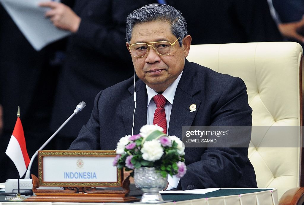Indonesian President Susilo Bambang Yudhoyono attends the East Asian Summit Plenary Session at the Peace Palace in Phnom Penh on November 20, 2012. Cambodian is hosing the 21st Association of Southeast Asian Nations (ASEAN) Summit and related summits. AFP PHOTO/Jewel Samad