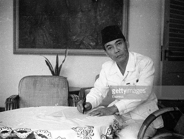 Indonesian statesman Achmed Sukarno first president of the Indonesian Republic formed in 1945