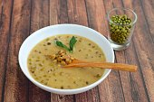 Indonesian sweet mung bean porridge