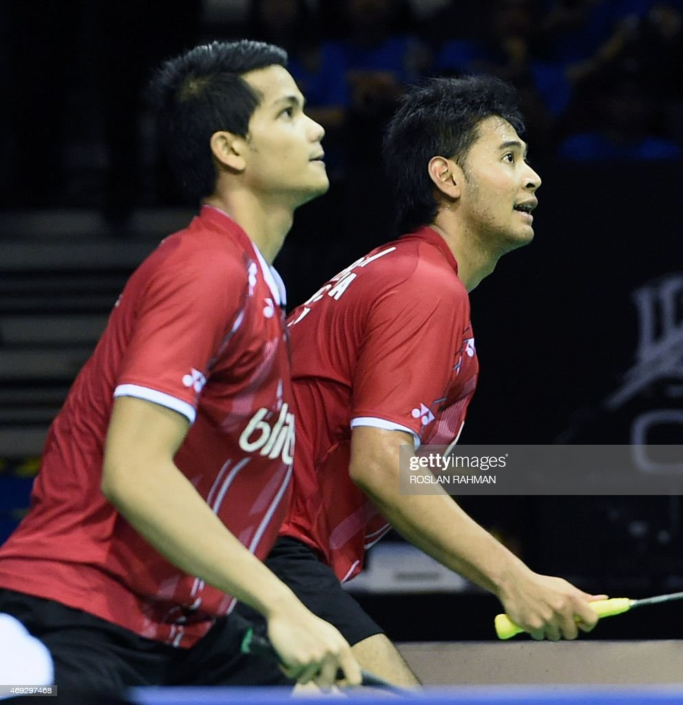 Indonesia s Angga Pratama R and Ricky Karanda Suwardi L play