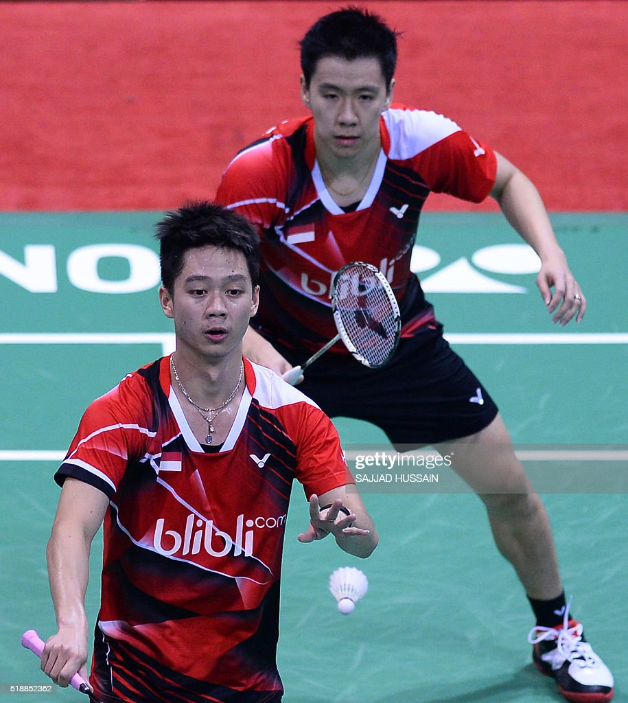 Indonesia s Gideon Markus Fernaldi BACK and Kevin Sanjaya
