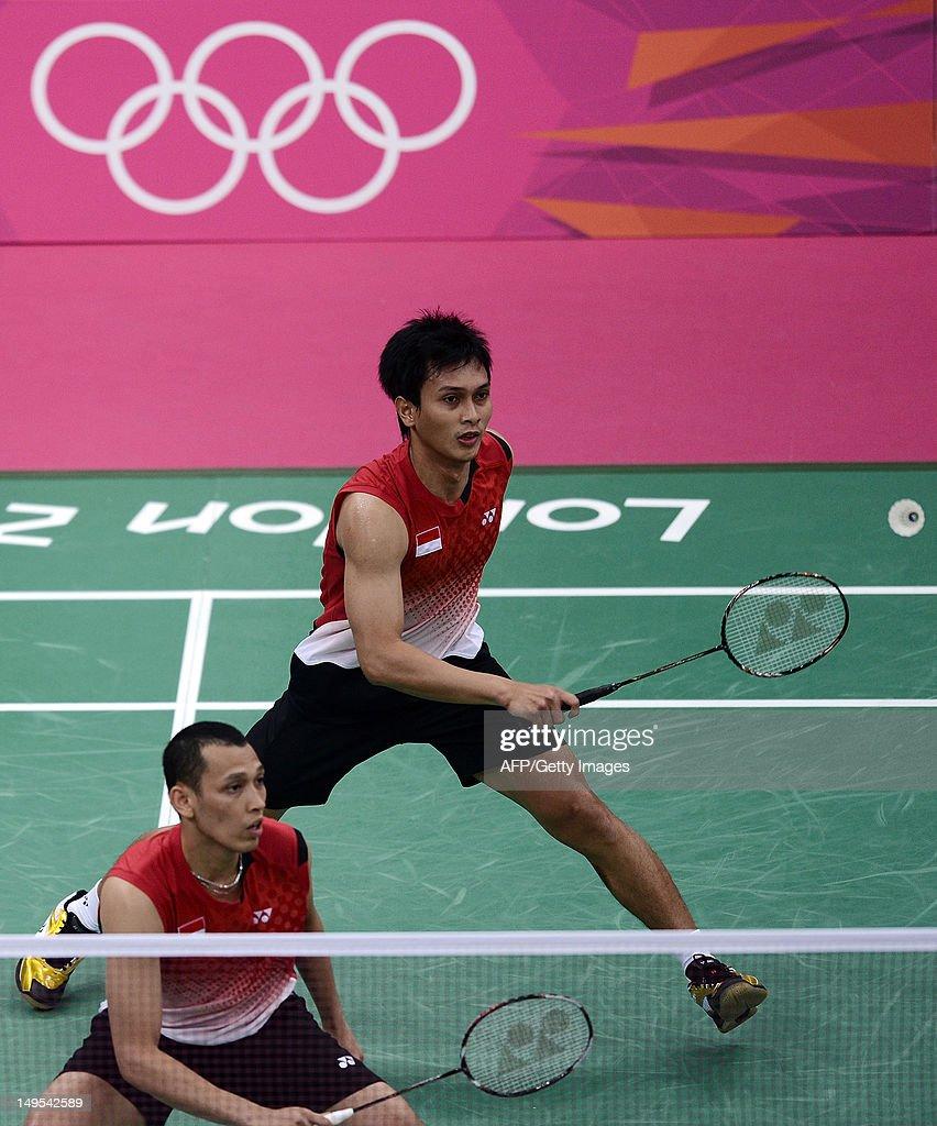 Indonesia s Mohammad Ahsan R returns n