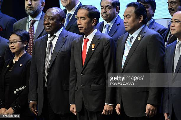 Indonesia's President Joko Widodo South Africa's Deputy President Cyril Ramaphosa Indonesia's Foreign Minister Retno Marsudi and Indonesia's Trade...