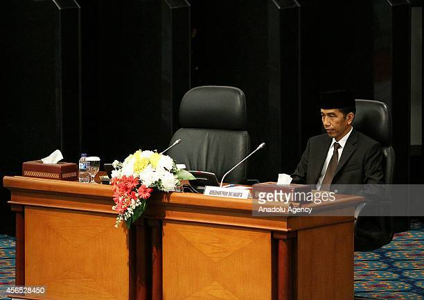 Indonesia's presidentelect Joko Widodo is seen at the parliament building before resigning as the Jakarta Governor in Jakarta Indonesia Oct 2 2014...