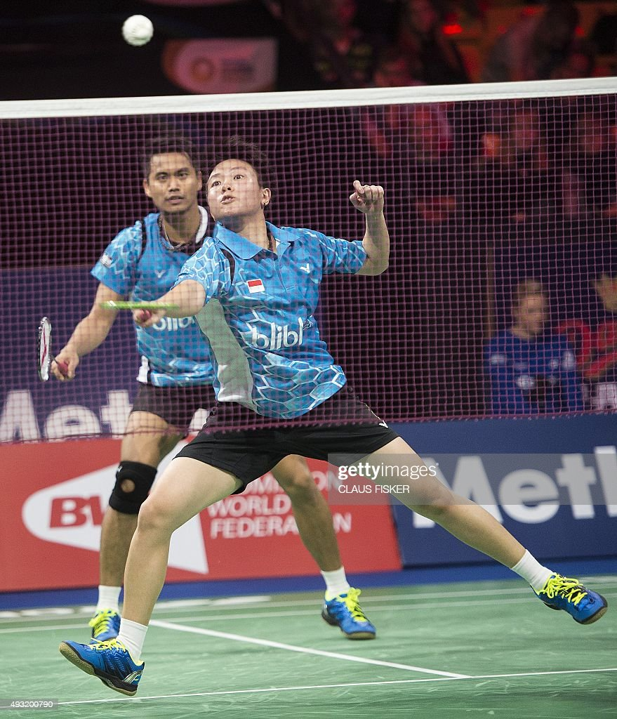 Indonesia s Tontowi Ahmad and Liliyana Natsir front play against