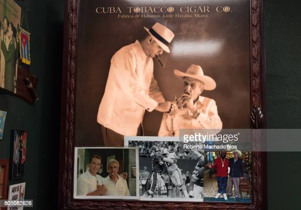 Indoor details of the Bello Family's Cigar Factory Photograph of the owner's smoking Cuban cigars