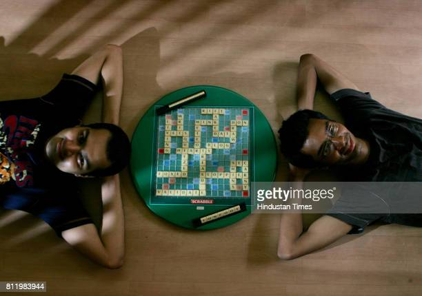 Indoor Games Nakul Pravhu and Sherwin Rodrigues participating Scrabble competition in Mumbai