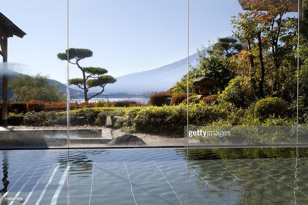 Indoor pool  and of hot spring, Honshu, Japan