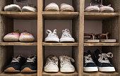 Indoor Shoe Rack of sneakers lovers shoes for children