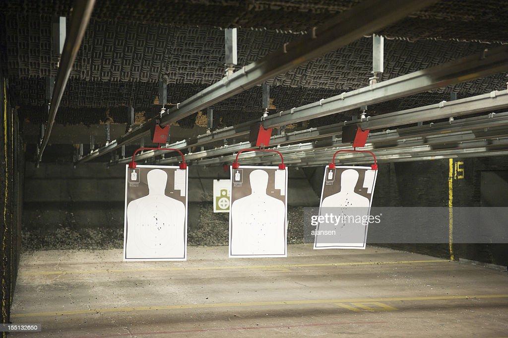 indoor shooting range : Stock Photo