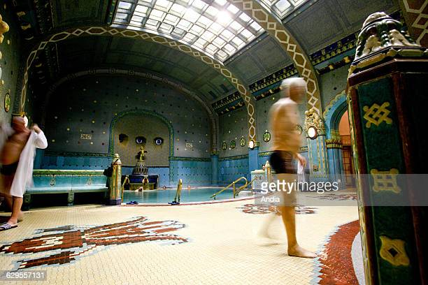 Indoor swimming pool of the Gellert Baths in Budapest Hungary