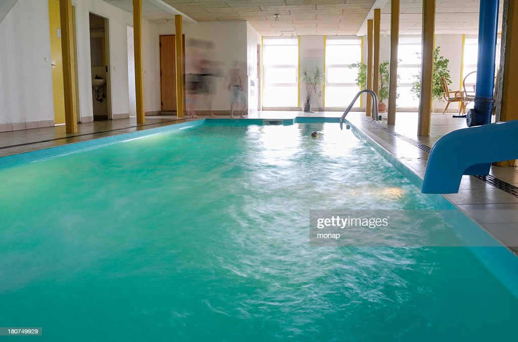 Indoor Swimming Pool With Motion Blurred People Stock Photo Getty Images