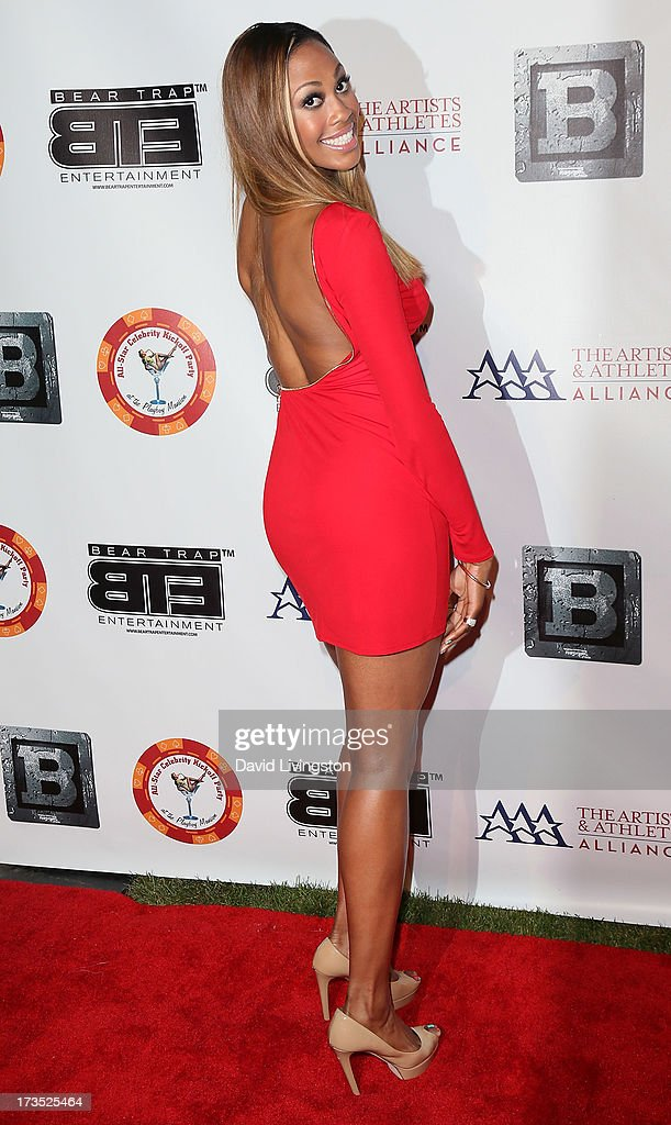 Indoor volleyball player Kim Glass attends the 8th Annual BTE All-Star Celebrity Kickoff Party at the Playboy Mansion on July 15, 2013 in Beverly Hills, California.