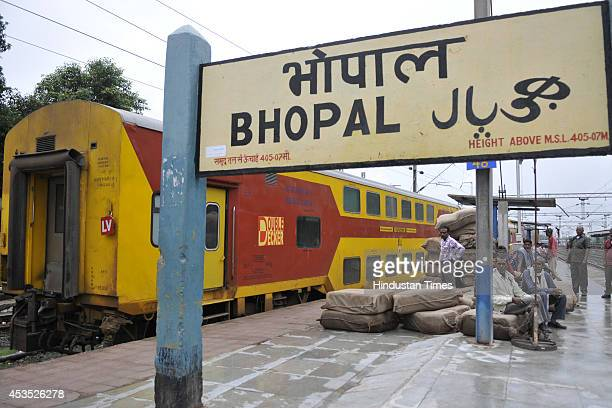 Indore bound Double Decker AC Express departs from Bhopal station on last day of its run on August 12 2014 in Bhopal India Operation of...