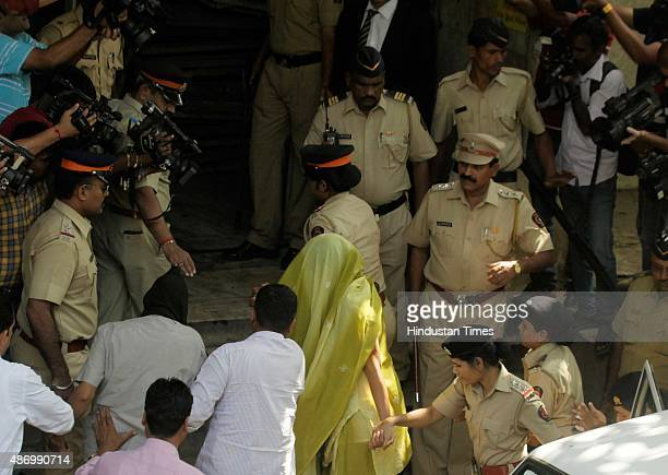 Indrani Mukerjea former CEO of INX Media and her former driver Shyamvar Rai produced in Bandra court on September 5 2015 in Mumbai India Indrani her...