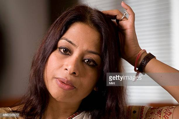 Indrani Mukerjea Founder CEO INX Media Pvt Ltd and Chairperson INX News Pvt Ltd poses for a profile shoot on April 18 2008 in Mumbai India