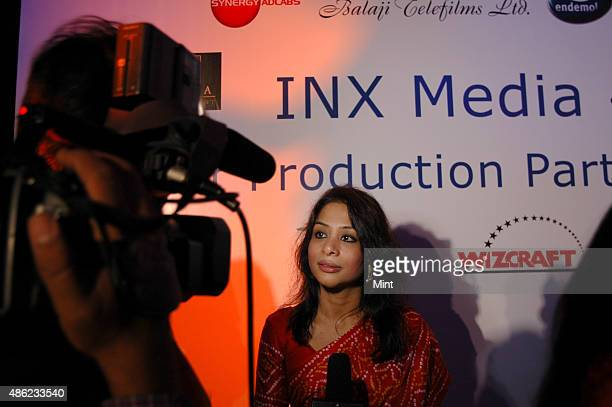 Indrani Mukerjea Founder CEO INX Media Pvt Ltd during a press conference of INX Media Press Conference at Taj Lands End on July 25 2007 in Mumbai...