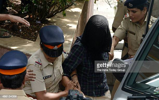 Indrani Mukerjea suspect in Sheena Bora murder case being produced by Mumbai Police in Bandra Court in Mumbai