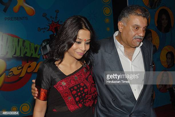 Indrani Mukherjea founder of 9X Media with her husband former Star India CEO Peter Mukherjea at the launch of 9X channel at Colonial Hall on November...