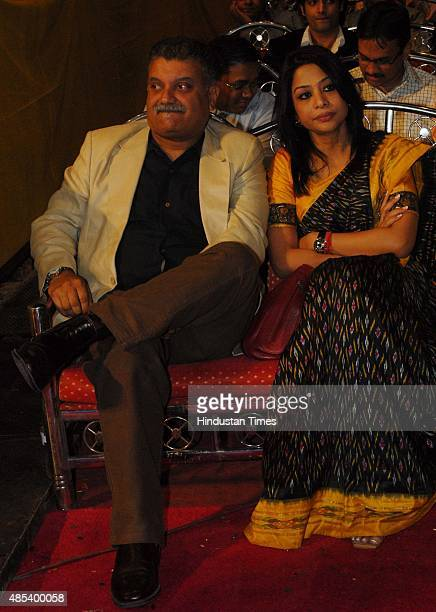 Indrani Mukherjea founder of 9X Media with her husband former Star India CEO Peter Mukherjea at the Indian television award 2007 at Chitrakoot Ground...