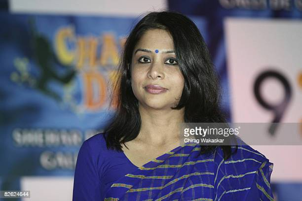 Indrani Mukherjee CEO of INX Media attends the press conference to announce reality singing danceoff show to be aired on '9X' Channel held at Grand...