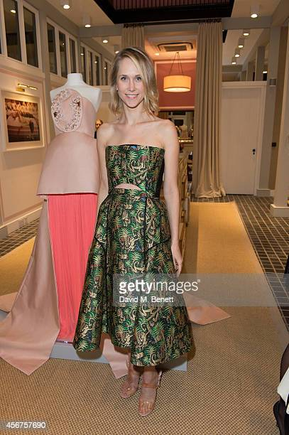 Indre Rockefeller attends a dinner to celebrate luxury Spanish fashion house Delpozo hosted by Poppy Delevingne at Moda Operandi on October 6 2014 in...