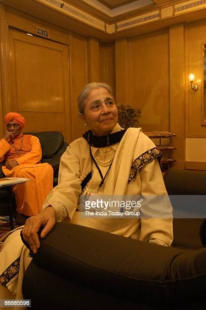 Indu Jain Chairman of The Times Group at India Today Conclave2005 in New Delhi India