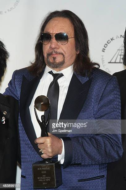 Inductee Ace Frehley of KISS attends the 29th Annual Rock And Roll Hall Of Fame Induction Ceremony at Barclays Center of Brooklyn on April 10 2014 in...