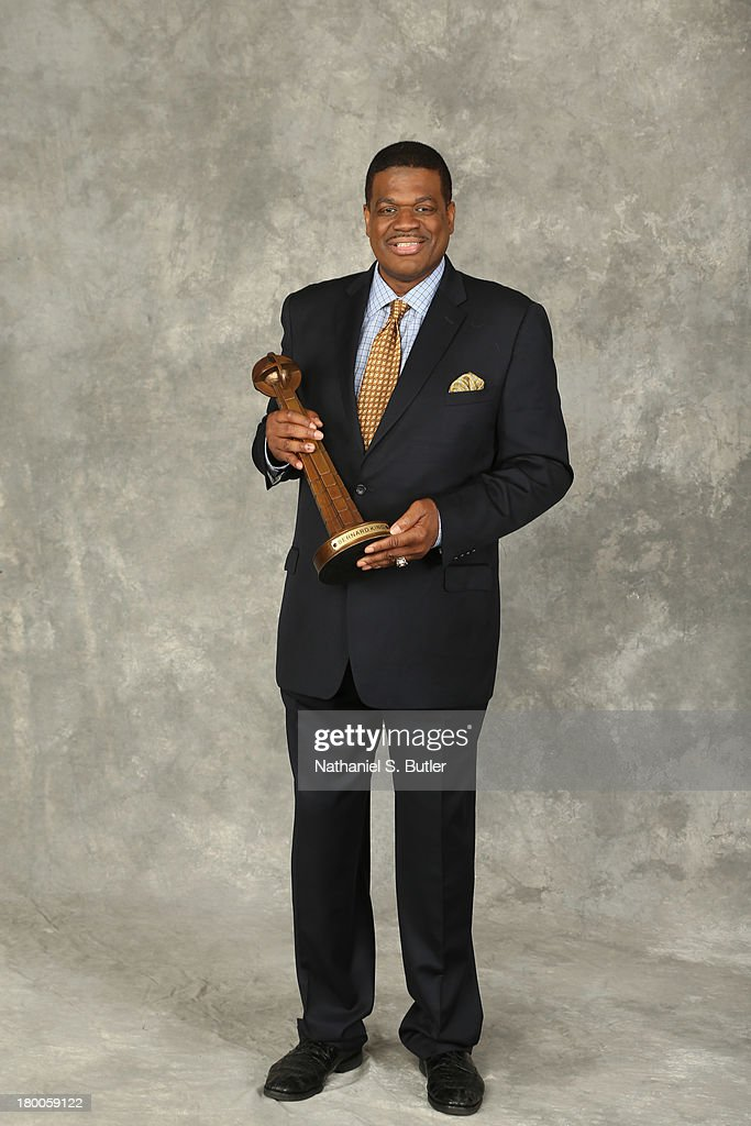 Inductee <a gi-track='captionPersonalityLinkClicked' href=/galleries/search?phrase=Bernard+King&family=editorial&specificpeople=214248 ng-click='$event.stopPropagation()'>Bernard King</a> poses for a portrait prior to the 2013 Basketball Hall of Fame Enshrinement Ceremony on September 8, 2013 at the Mass Mutual Center in Springfield, Massachusetts.