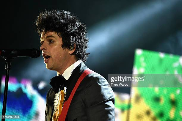 Inductee Billie Joe Armstrong of Green Day performs onstage during the 30th Annual Rock And Roll Hall Of Fame Induction Ceremony at Public Hall on...