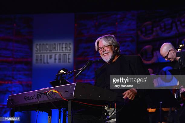 Inductee Bob Seger performs onstage at the Songwriters Hall of Fame 43rd Annual induction and awards at The New York Marriott Marquis on June 14 2012...