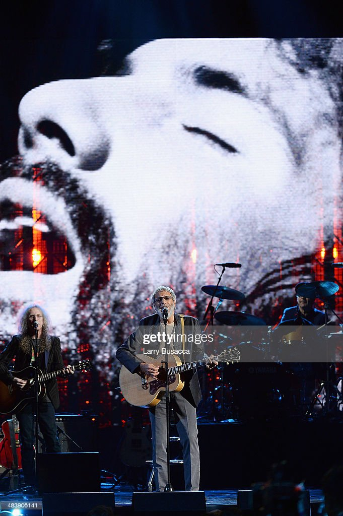 Inductee Cat Stevens performs onstage at the 29th Annual Rock And Roll Hall Of Fame Induction Ceremony at Barclays Center of Brooklyn on April 10, 2014 in New York City.