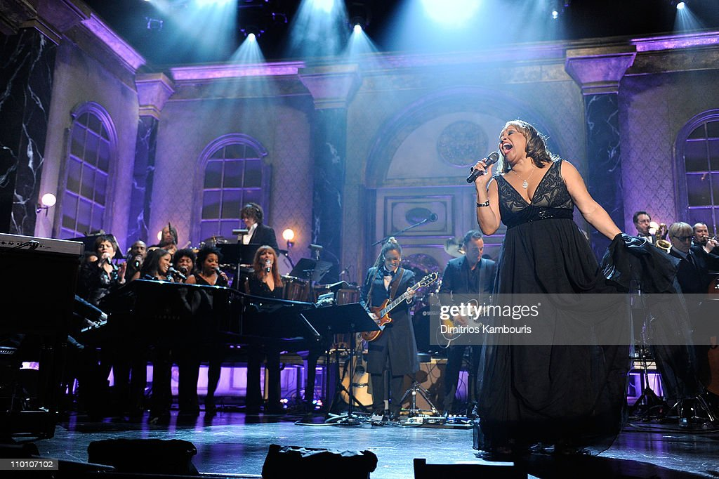 Inductee <a gi-track='captionPersonalityLinkClicked' href=/galleries/search?phrase=Darlene+Love&family=editorial&specificpeople=220743 ng-click='$event.stopPropagation()'>Darlene Love</a> performs onstage at the 26th annual Rock and Roll Hall of Fame Induction Ceremony at The Waldorf=Astoria on March 14, 2011 in New York City.