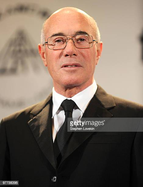 Inductee David Geffen attends the 25th Anniversary Rock Roll Hall of Fame 2010 induction ceremony at The Waldorf Astoria Hotel on March 15 2010 in...