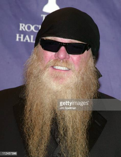 Inductee Dusty Hill of ZZ Top during The 19th Annual Rock and Roll Hall of Fame Induction Ceremony Press Room at Waldorf Astoria in New York City New...