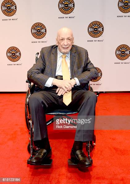 Inductee Fred Foster arrives at The 2016 Medallion Ceremony at the Country Music Hall of Fame and Museum on October 16 2016 in Nashville Tennessee