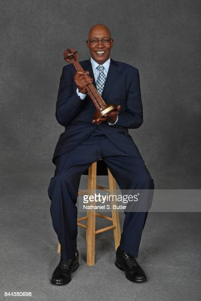 Inductee George McGinnis poses for a portrait prior to the 2017 Basketball Hall of Fame Enshrinement Ceremony on September 8 2017 at the Naismith...