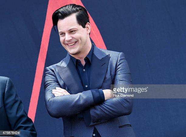 Inductee Jack White inductes Loretta Lynn into The Nashville Walk Of Fame on June 4 2015 in Nashville Tennessee