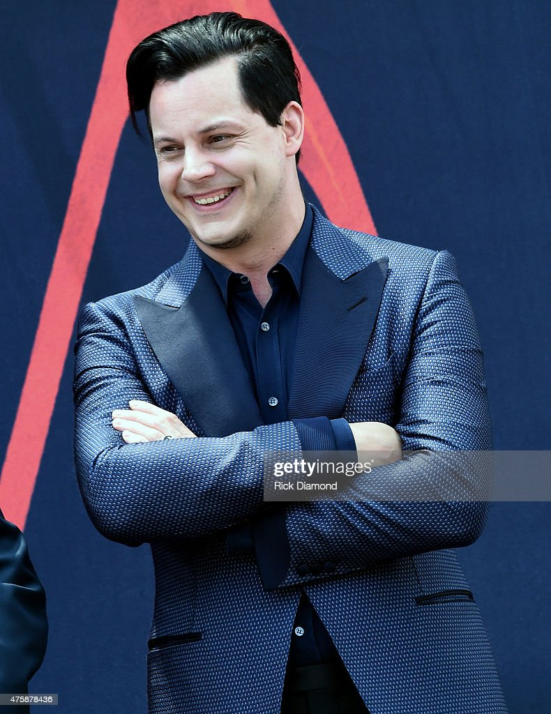 Inductee Jack White (pictured) inductes Loretta Lynn into The Nashville Walk Of Fame on June 4, 2015 in Nashville, Tennessee.