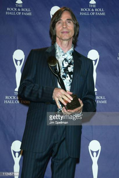 Inductee Jackson Browne during The 19th Annual Rock and Roll Hall of Fame Induction Ceremony Press Room at Waldorf Astoria in New York City New York...
