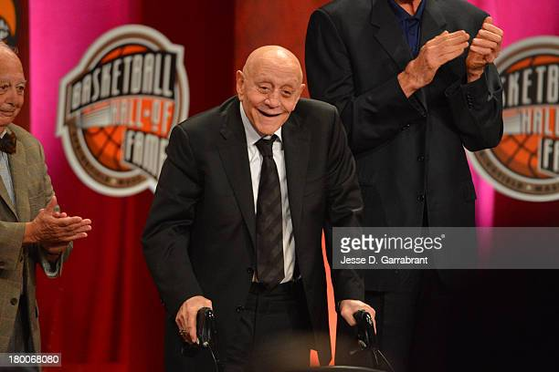 Inductee Jerry Tarkanian during the 2013 Basketball Hall of Fame Enshrinement Ceremony on September 8 2013 at the Mass Mutual Center in Springfield...