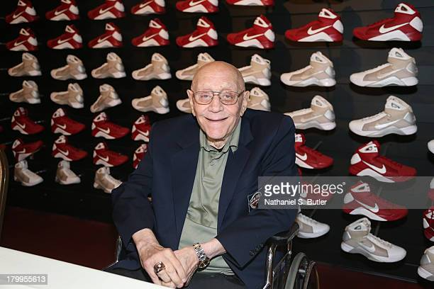 Inductee Jerry Tarkanian poses for a photo during the Class of 2013 Press Event as part of the 2013 Basketball Hall of Fame Enshrinement Ceremony on...