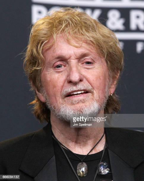 Inductee Jon Anderson of Yes attends the Press Room of the 32nd Annual Rock Roll Hall Of Fame Induction Ceremony at Barclays Center on April 7 2017...