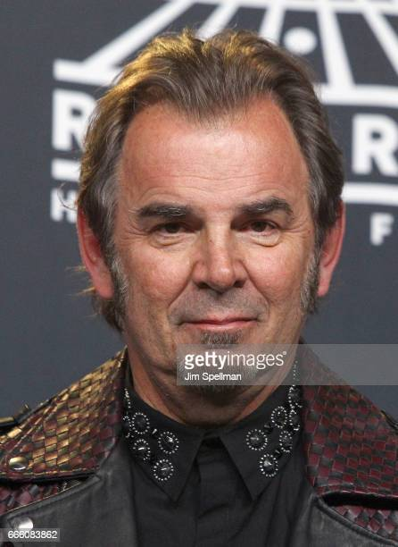 Inductee Jonathan Cain of Journey attends the Press Room of the 32nd Annual Rock Roll Hall Of Fame Induction Ceremony at Barclays Center on April 7...