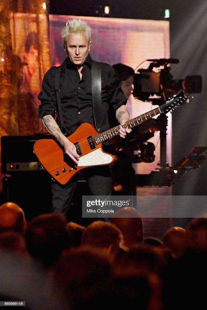 2017 inductee Mike McCready of Pearl Jam performs onstage at the 32nd Annual Rock & Roll Hall Of Fame Induction Ceremony at Barclays Center on April 7, 2017 in New York City. The event will broadcast on HBO Saturday, April 29, 2017 at 8:00 pm ET/PT