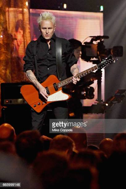 2017 inductee Mike McCready of Pearl Jam performs onstage at the 32nd Annual Rock Roll Hall Of Fame Induction Ceremony at Barclays Center on April 7...