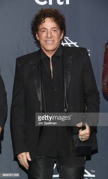 Inductee Neal Schon of Journey attends the Press Room of the 32nd Annual Rock Roll Hall Of Fame Induction Ceremony at Barclays Center on April 7 2017...