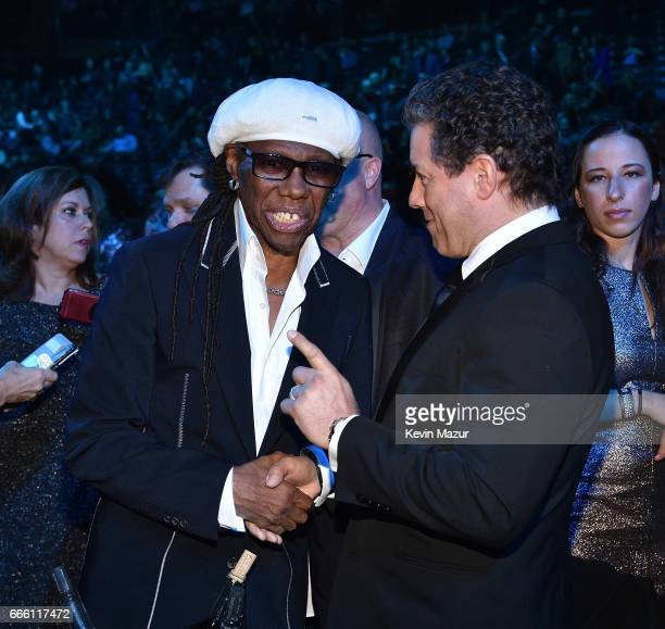 Inductee Nile Rodgers attends 32nd Annual Rock Roll Hall Of Fame Induction Ceremony at Barclays Center on April 7 2017 in New York City The broadcast...
