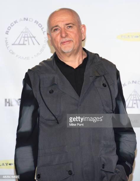 Inductee Peter Gabriel attends the 29th Annual Rock And Roll Hall Of Fame Induction Ceremony at Barclays Center on April 10 2014 in the Brooklyn...